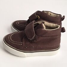 Gymboree Toddler Boys Shoes Sz 4 Brown Hightop Casual Shoes Hook and Loop