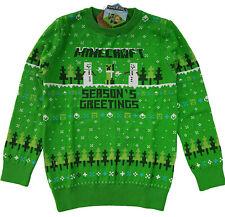 Childrens Kids Minecraft Christmas Ugly Jumper Sweater Gamer Boys Girls Fairisle