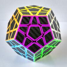 Z 3x3x3 Carbon Fiber Megaminx Dodecahedron Speed Magic Cube Twist Puzzle IQ Toys