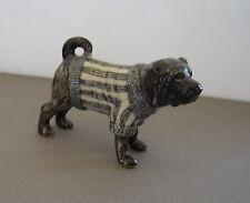 Old Porcelain English Bulldog Dog Sculpture
