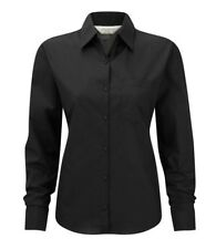 Russell Collection 934F Damen Sleeve Shirt Bluse schwarz Gr. XL Neu 2. Wahl