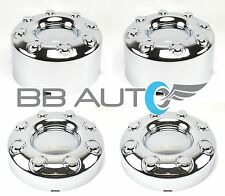 2005-2016 FORD F350 F-350 DUALLY 2WD CHROME WHEEL CENTER HUB CAPS SET OF 4