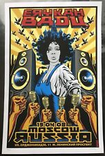 2008 Erykah Badu - Moscow Silkscreen Concert Poster Signed and Numbered by Emek