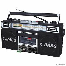 AM/FM/SW1-SW2 4 BAND RADIO & CASSETTE TAPE to MP3 CONVERTER RECORDER USB SD QFX