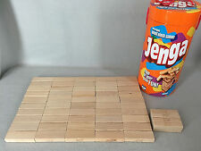 Jenga Original Wood Block Game Parker Brothers 2006 Orange Tube 54 Pieces