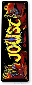 Joust Arcade Sign, Classic Arcade Game Marquee, Game Room Tin Sign A457