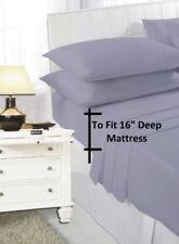 Draps-housses gris en polyester pour le lit Chambre à coucher