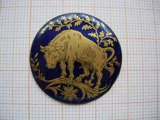 Petit médaillon émail Scene taureau zodiaque émaillé montre watch pocket p12