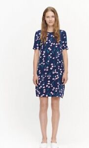 Marimekko Blue Dress With Flowers. Size M. BNWOT.