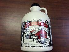 """2016"" 100% NY Pure Maple Syrup Grade A 1/2 Gallon (64oz)"