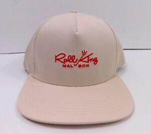MALBON GOLF Roll King Adjustable Snapback HAT Golf Cap in Beige NEW