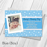Personalised Christening Invitations | Baptism | Boy | Girl | Photo | Naming Day