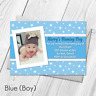Personalised Christening Invitations | Baptism Naming Day Photo Boy Girl Invites