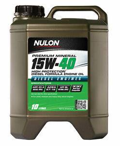 Nulon Premium Mineral Oil High Protection Diesel Formula 15W-40 10L HP15W40-10