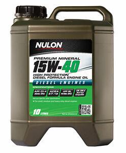 Nulon Premium Mineral Oil High Protection Diesel Formula 15W-40 10L HP15W40-10