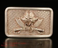 TIBET SILVER BELT BUCKLE RELIEF PIRATE CHRISTMAS GIFT COLLECTION