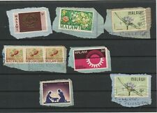 Malawi Used Selection On Piece (9 stamps)