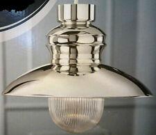 EDWARD LANTERN CHROME FINISH CEILING PENDANT FISHERMAN GLASS LIGHTING SHADE NEW