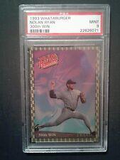 1993 Whataburger Nolan Ryan 300th Win Baseball Sport Memorabilia Card PSA Mint 9