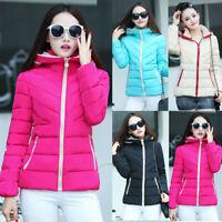 Women's Girls Hooded Thickening Slim Coat Winter Warm Short Jacket Coat Outwear