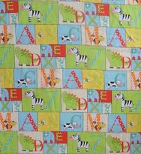 Fabric Traditions A to Zoo Alphabet 100% Cotton Fabric Quilt .66 Yard children
