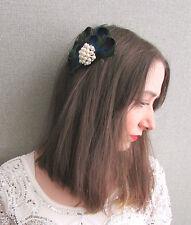 Plume De Paon Perle Diamante Peigne À Cheveux 1920s Charleston Vintage Nuptial