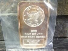 1 oz 999 Silver Bar 1989 Sunshine Mint- Sunshine Mining (original packaging)