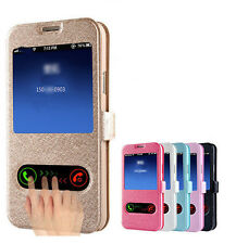 Bling Wallet Case Flip Cover window view cover For Samsung Galaxy S7 edge S8 J7