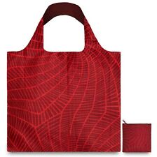 LOQI QUALITY REUSABLE FOLDABLE SHOPPING BAG POUCH POCKET GROCERY BEACH EL-FIRE