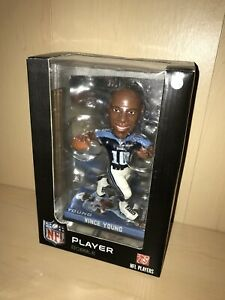 Rare New In Box Vince Young Tennessee Titans Photo Base Bobble Head Texas