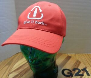 """NWOT """"GIVE IT BACK"""" COKE COCA-COLA HAT MADE FROM RECYCLE PLASTIC BOTTLES G21"""