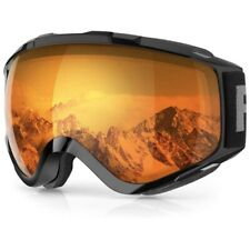 Findway Unisex Ski Snowboard Goggle UV Anti Fog Helmet Compatible Double Glasses