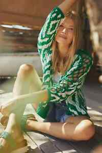 Anthropologie Krisha Cardigan SIZE M new green color