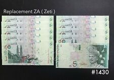 Malaysia - 11th RM5 Replacement  ZA 10xRunning   UNC