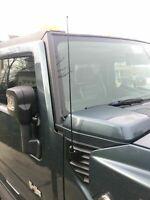 "2003-2009 Hummer H2 31/"" Black Stainless AM FM FENDER Antenna Mast FITS"