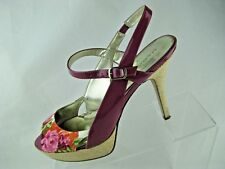 MARC FISHER DORITTA 8 1/2 M Heels Canvas Floral Womens Shoes