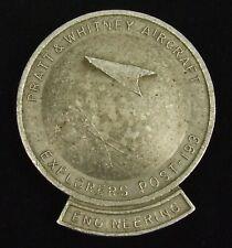 RARE Pratt & Whitney Cast Commemorative Award WPB Florida EXPLORERS POST-193