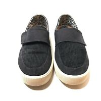Toms Womens Altair Suede Felt Slip On Shoes Womens Size 8 Adjustable Strap Black
