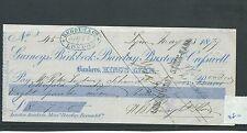 wbc. - CHEQUE - CH480- USED -1879-GURNEYS, BIRKBECK, BARCLAY & BUXTON,KINGS LYNN