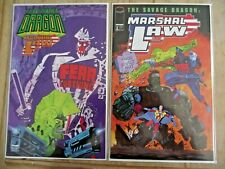 Savage Dragon / Marshal Law #1-2 complete VF