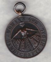 WOMAN'S OWN HANDICRAFTS BRONZE MEDAL IN NEAR MINT CONDITION