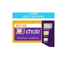 Chatr Multi SIM Card (Nano + Micro + Regular) LTE/4G/3G GSM Prepaid Canada