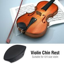 Replaceable Ebony Wood 4/4  Violin Chin Rest with Softwood Strip&Bracket Set NEW