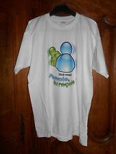 tee-shirt humour msn hot-male (hotmail) - blanc taille M - neuf