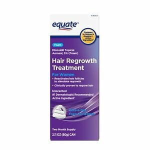 Easy To Use Foam Minoxidil 5% Hair Regrowth Treatment For Women 4 month supply