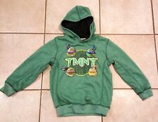 Tmnt Teenage Mutant Turtles Hoodie Hooded Sweatshirt Nickelodeon Sz 7 Kids Euc