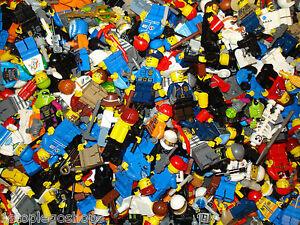 Lego x10 Genuine Mini Figures Random Mix with Accessories!
