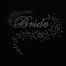 Gorgeous 'Bride' Crystal Rhinestone Wedding iron on hot fix sticker -clear clour