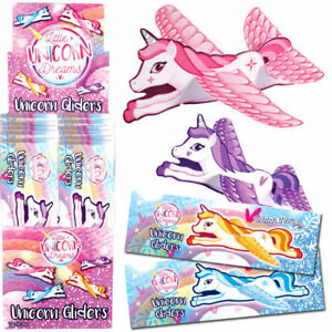 UNICORN FLYING GLIDERS Girls Party Bag Stocking Fillers /Toys Pinata Prizes