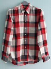Men's Gant Red & White Check Long Sleeved Shirt Size L